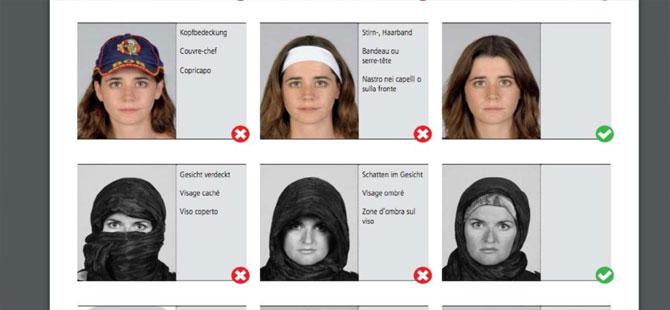 Federal Polis, resmi evraklarda Vesikalık Fotoğrafların nasıl olması gerektiğini yayınladı.